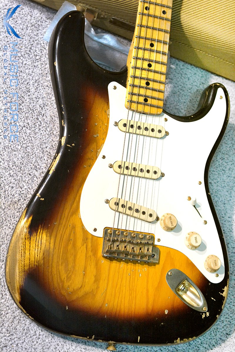 [이월상품창고대방출!!!] Fender MBS(Masterbuilt) 1957 Heavy Relic Strat Ash-2 Tone Sunburst w/Josephina Handwound Pickups & Gold HW by Jason Smith(2013년산/신품)