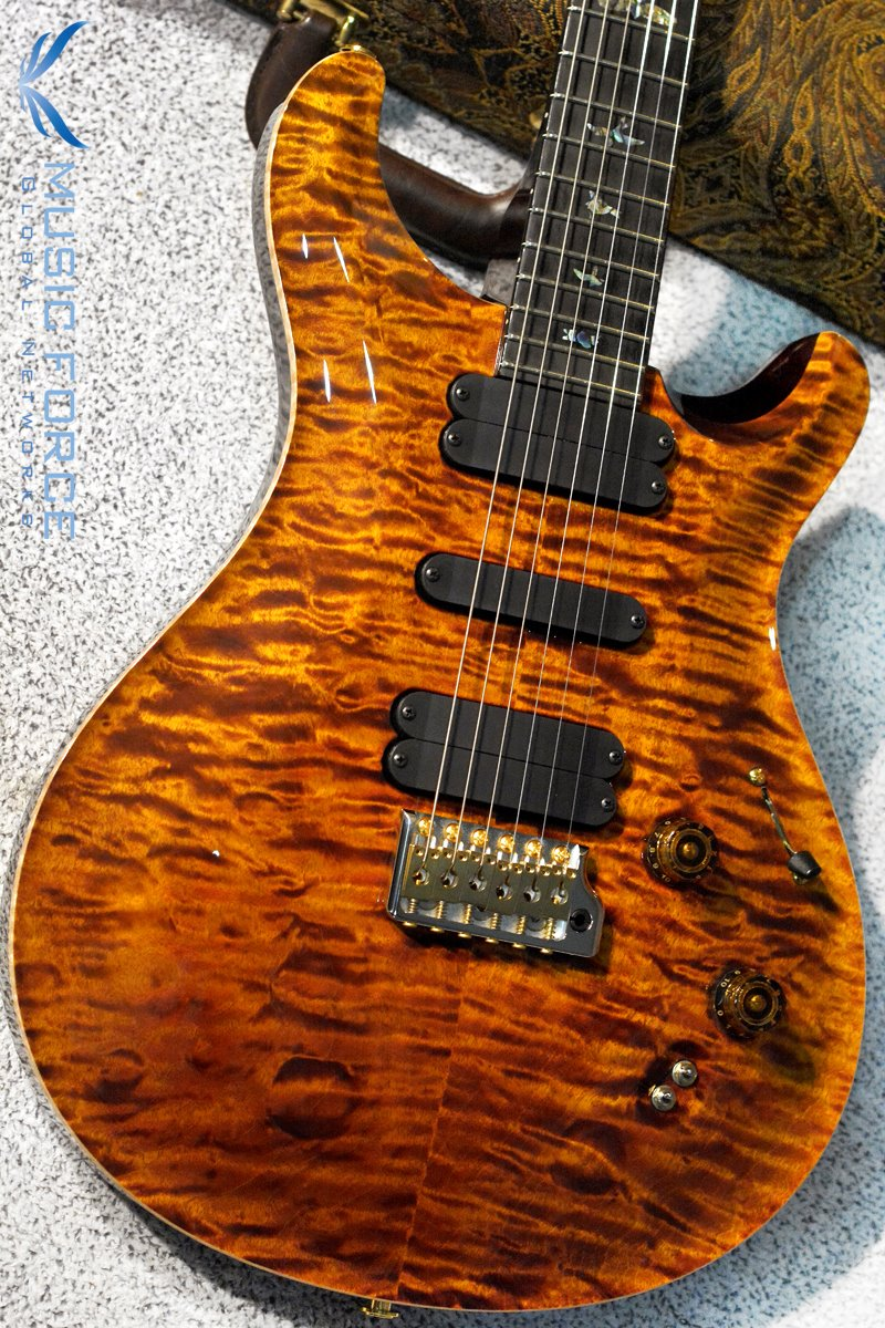 PRS Wood Library 509 Limited-Yellow Tiger w/Quilt Maple 10 Top, Ebony FB & Hybrid HW(2018년산/신품)