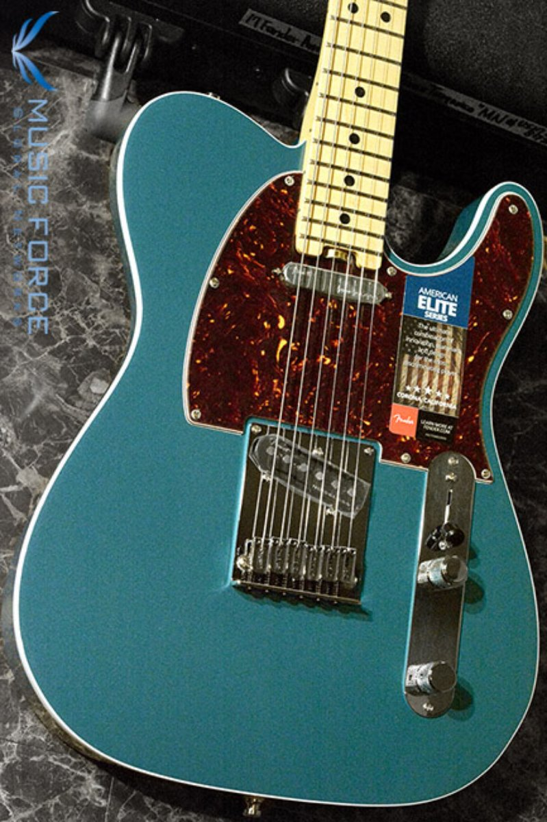 Fender USA American Elite Telecaster-Ocean Turquoise w/Maple FB (2017년산/신품)