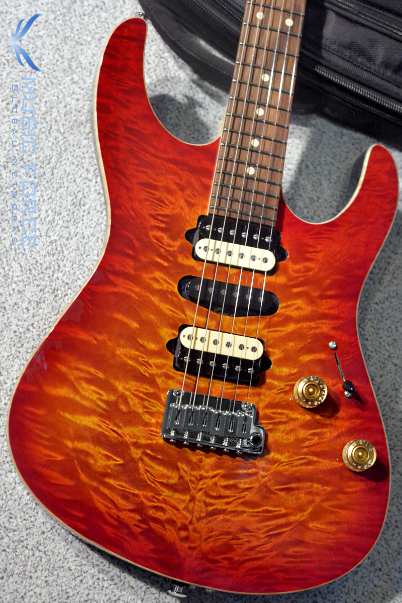Suhr Modern Plus Curly HSH Limited Edition-Fireburst w/Pau Ferro FB & Black Headstock(2018년산/신품)