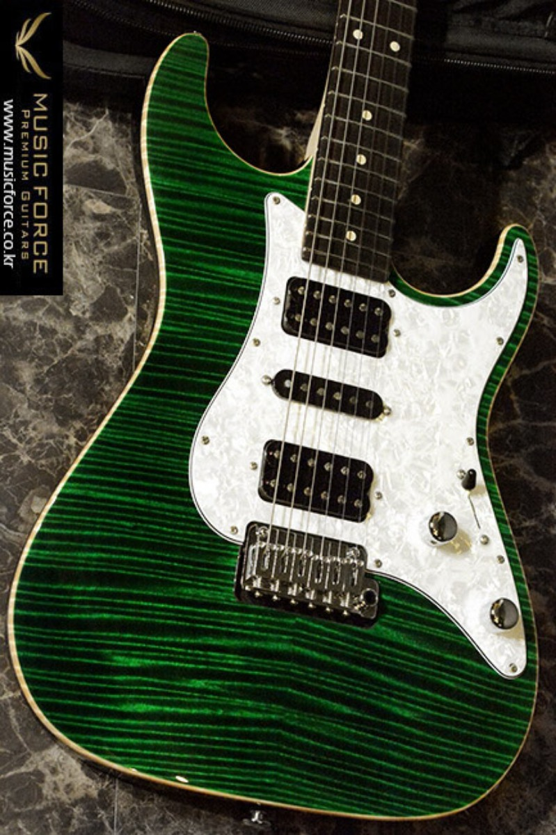 [이월상품창고대방출!!!] Suhr Dealer Select Limited Run Standard Ash HSH FMT-Trans Green w/Pearl PG & Black Headstock(2015년산/신품)