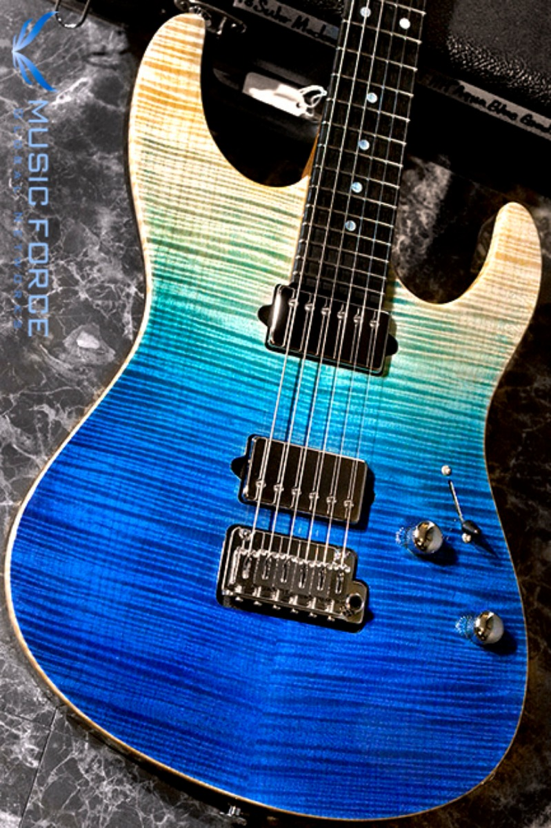 [2018 Final Sale(~12/31까지)!!!] Suhr Modern Carve Top HH FMT-Custom Color Aqua Blue Gradient w/Ebony FB & Match Figured Headstock(2018년산/신품)
