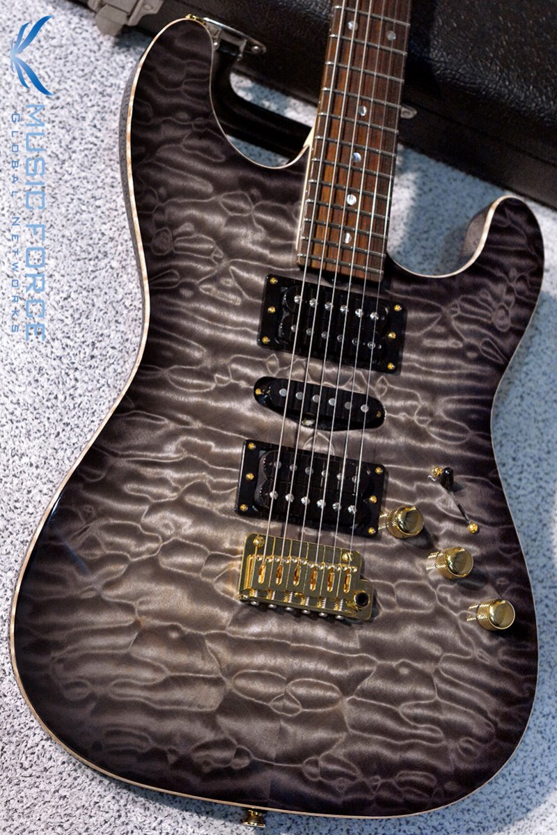 [이월상품창고대방출!!!] Don Grosh NOS MT(Quilt) HSH-Charcoal Burst w/Matching Quilt Headstock & Gold HW(2015년산/신품)