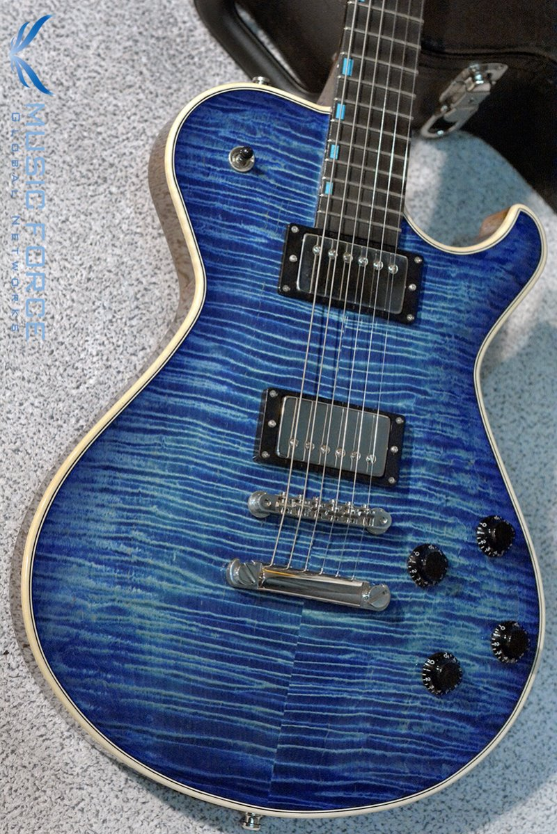 Knaggs Steve Stevens 'SSC' Tier 1(Flame)-Ocean Blue Burst Finish w/Turquoise Inlay(2017년산/신품)