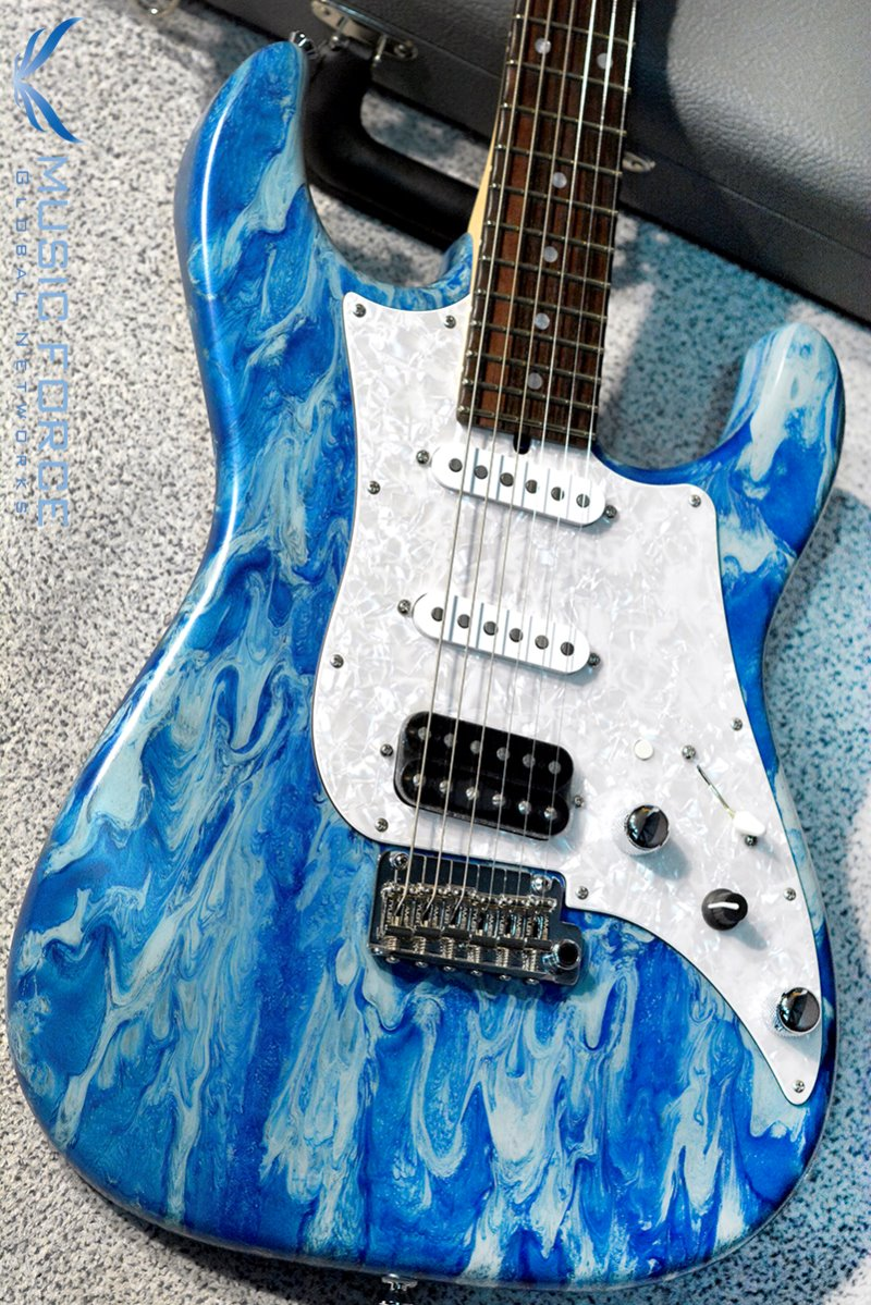 [2018 Final Sale(~12/31까지)!!!] James Tyler USA Studio Elite HD Music Force Limited Edition-Blue Force Shmear w/Macassar Ebony Fingerboard #22 of 25(2018년산/전세계 25대 한정판/신품)