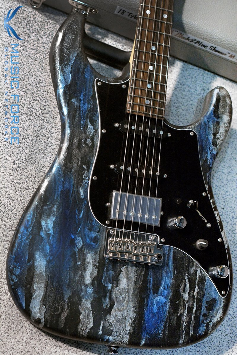 James Tyler USA Studio Elite HD-Black & Blue Shmear Semi-Gloss w/Macassar Ebony FB, Black Headstock, Black PG, Midboost & Bypass Button(2018년산/신품)