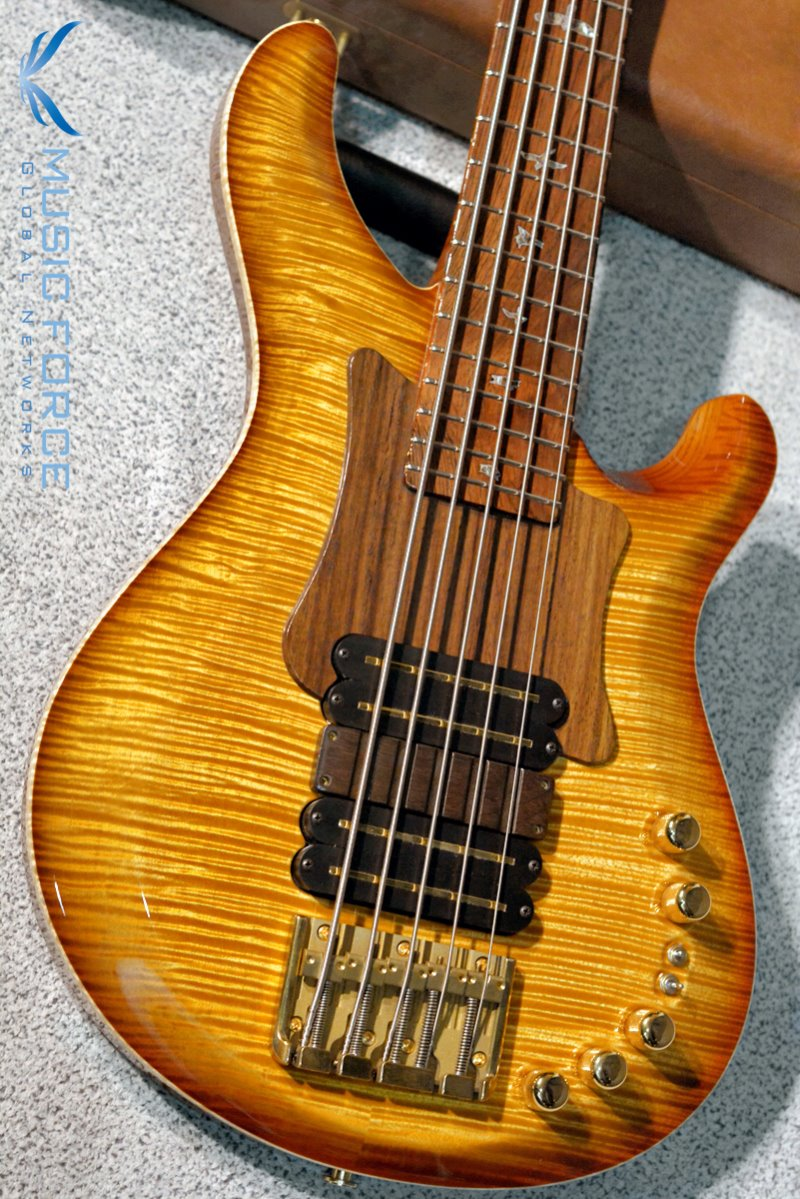 [미국현지가이하세일!!!] PRS Private Stock Gary Grainger Signature 5 Bass FMT-Vintage Amber Burst w/Wood Pickguard, Ramp & Brazilian Rosewood(CITES-Certified) Fingerboard(2015년산/신품)