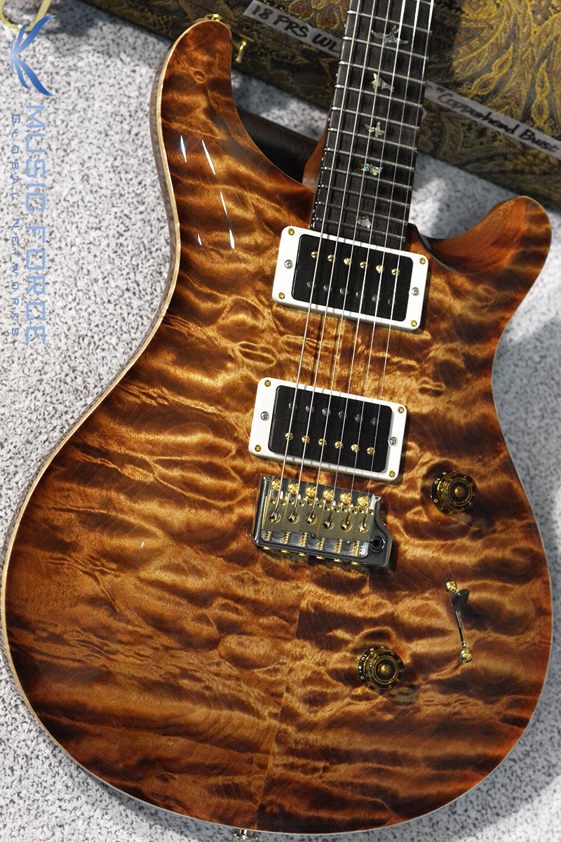 PRS Wood Library Custom 24 Limited-Copperhead Burst w/Artist Quilt, African Blackwood FB & Hybrid HW(2018년산/신품)