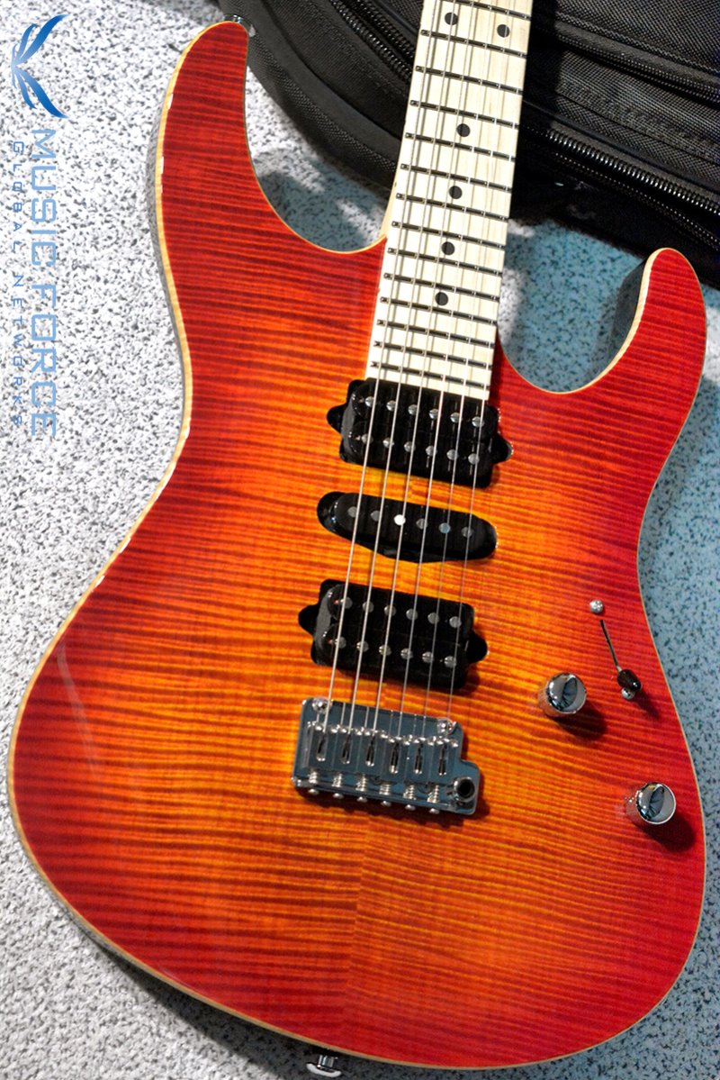 [특별세일!!!] Suhr Modern Pro HSH FMT-Fireburst w/Maple FB & Match Figured Headstock #2(2015년산/신품)