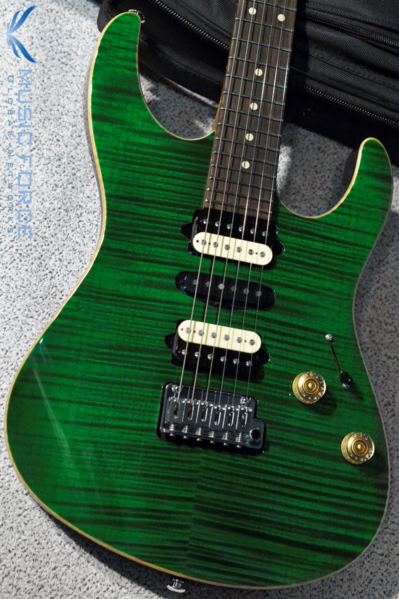 [이월상품창고대방출!!!] Suhr Dealer Select Limited Run Modern HSH FMT-Trans Green w/Black Headstock(2015년산/신품)