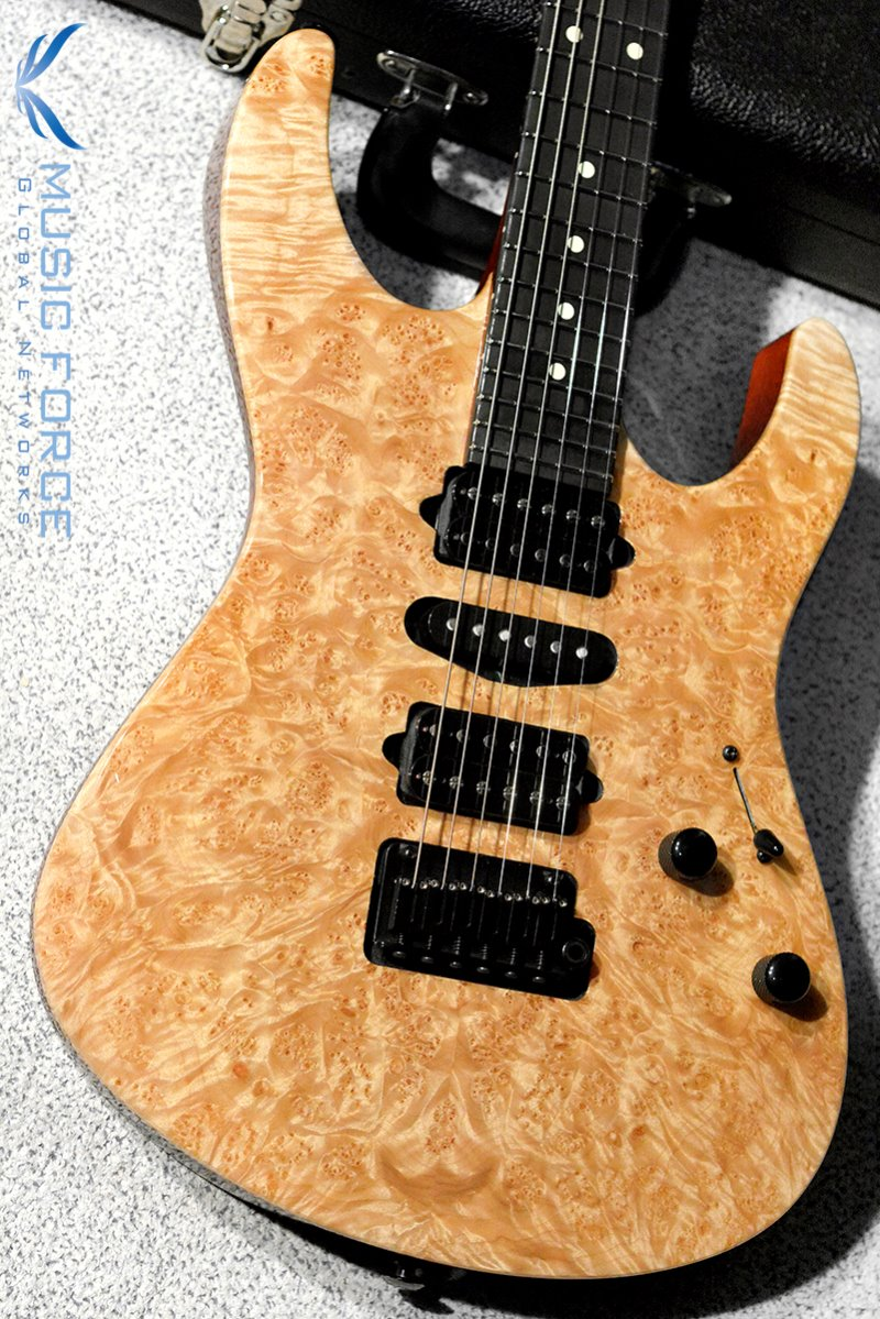 Suhr Custom Modern Set Neck HSH Waterfall Burl Maple Top(Custom Top Wood Selection)-Natural Gloss w/Ebony FB & Black HW(2019년산/신품)