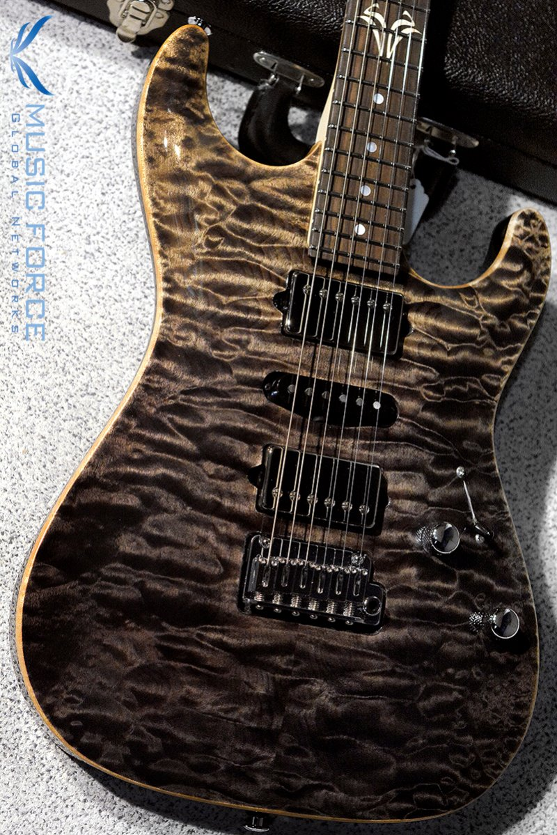 Suhr Custom Standard Carve Top HSH QMT-Custom Color Black Gradient w/Match Figured Headstock & Double S Inlay(2017년산/신품)