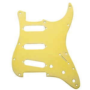 [Fender] 11-HOLE MODERN-STYLE STRATOCASTER® S/S/S PICKGUARDS 1-Ply Gold Anodized