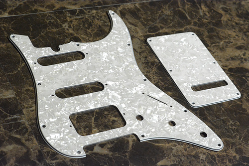 White Pearl Custom Pickguard & Back Plate for James Tyler Classic(SSH/11-Hole)