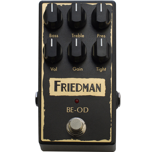 [특별세일] Friedman BE-OD (Overdrive/Distortion) Pedal (정식수입품)