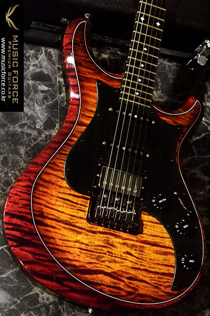 Knaggs Chesapeake Series 'Severn X' Tier 2(Flame) HSS-Single Purf Fire/Burgandy Finish w/Annegre PG(2017년산/신품)