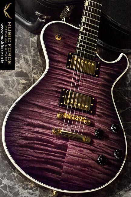 Knaggs Steve Stevens 'SSC' Tier 1(Flame)-Purple Burst Finish w/Gold HW(2017년산/신품)
