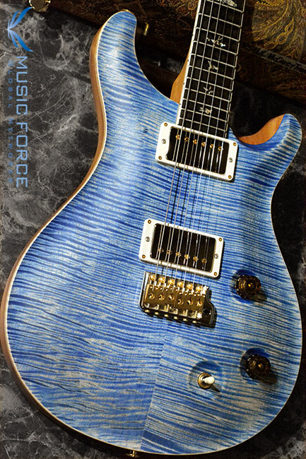 PRS Wood Library Mccarty Trem Limited-Faded Blue Jean Satin w/Arist Grade Flame Maple Top, African Blackwood FB & Hybrid HW(2017년산/신품)