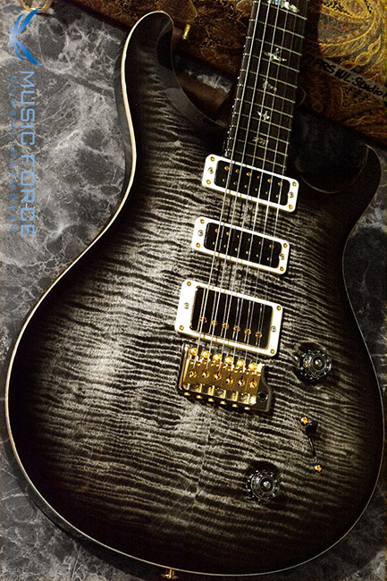 PRS Wood Library Studio Limited-Charcoal Burst w/10 Top Flame, East Indian Rosewood FB & Hybrid HW(2017년산/신품)