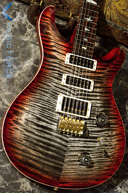 PRS Wood Library Studio Limited-Charcoal Cherry Burst w/10 Top Flame, Cocobolo FB & Hybrid HW(2017년산/신품)