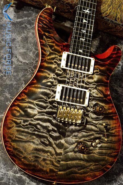 PRS Wood Library CU24-08 Limited-Burnt Maple Leaf w/Artist Quilt, Stained Figured Maple Neck, Gaboon Ebony FB & 58/15 Pickups(2017년산/신품)