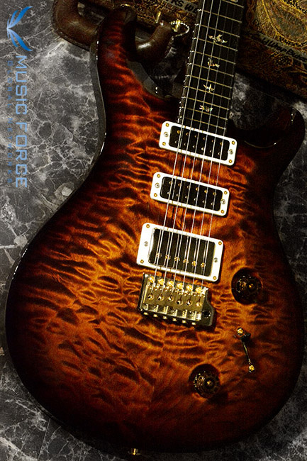 PRS Wood Library Studio Limited-Black Gold Burst w/10 Top Quilt, East Indian Rosewood FB & Hybrid HW(2017년산/신품)