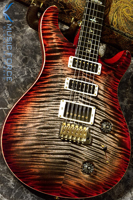 PRS Wood Library Studio Limited-Charcoal Cherry Burst w/10 Top Flame, Gaboon Ebony FB & Hybrid HW(2017년산/신품)