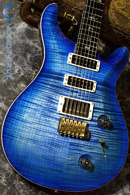 PRS Wood Library Studio Limited-Faded Blue Burst w/10 Top Flame, Gaboon Ebony FB & Hybrid HW(2017년산/신품)