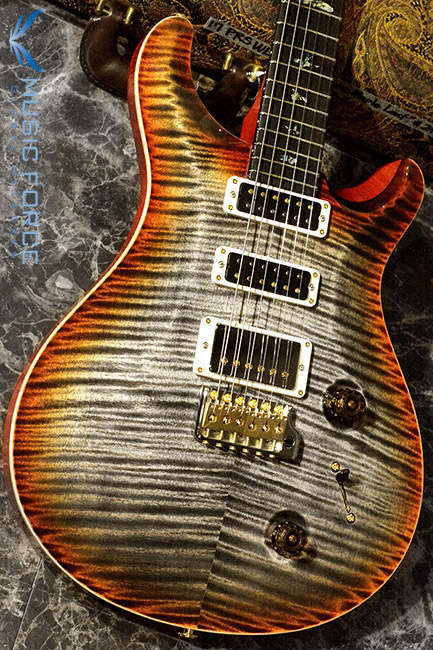 PRS Wood Library Studio Limited-Burnt Maple Leaf w/10 Top Flame, Gaboon Ebony FB & Hybrid HW(2017년산/신품)