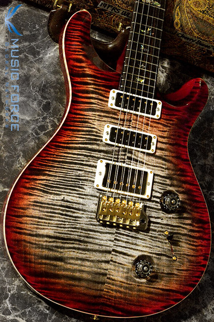 PRS Wood Library Studio Limited-Charcoal Cherry Burst w/10 Top Flame, East Indian Rosewood FB & Hybrid HW(2017년산/신품)