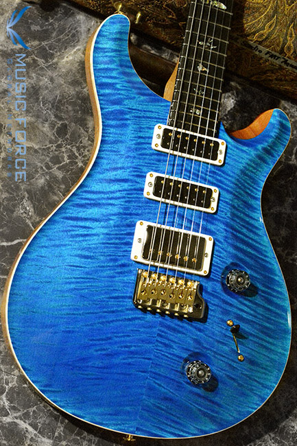 PRS Wood Library Studio Limited-Aquamarine w/10 Top Flame, Gaboon Ebony FB & Hybrid HW(2017년산/신품)