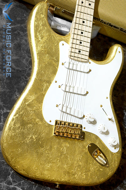 Fender MBS(Masterbuilt) Eric Clapton-Gold Leaf Strat w/Lace Sensor Pickups & AAA Flame Maple Neck by Todd Krause(2018년산/신품)