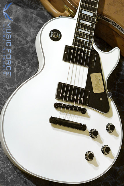 [2018 Final Sale(~12/31까지)!!!] Gibson Custom Les Paul Custom-Alpine White w/Black HW(2017년산/신품)