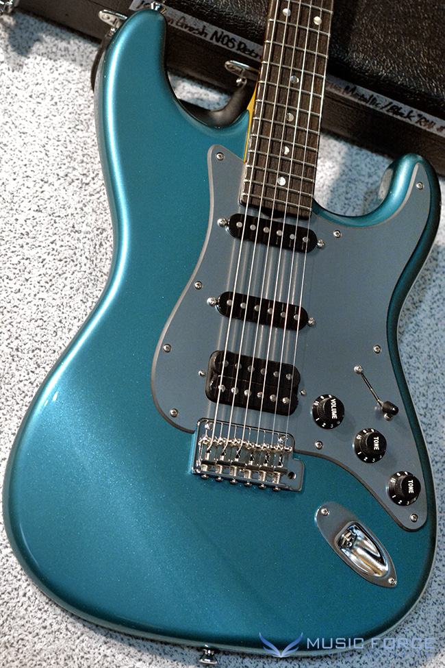 Don Grosh NOS Retro SSH-Deep Aqua Metallic over Black w/Brushed Aluminum PG & Matching Headstock(2018년산/신품)